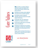 Core Values at Cash Plus Inc.